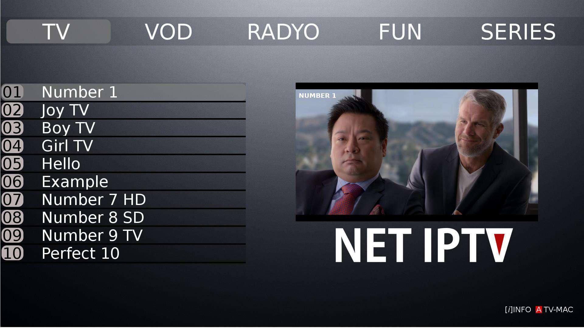 Abonnement NET IPTV